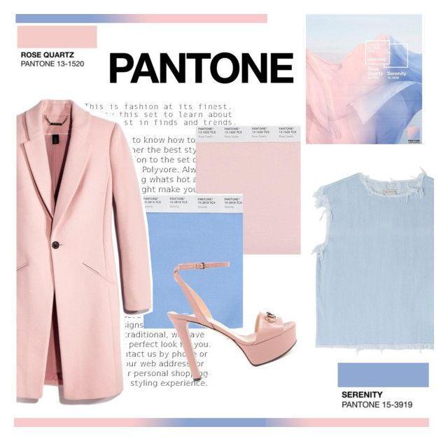 """PANTONE : Rose Quartz & Serenity"" by silviadarma on Polyvore featuring Marc by Marc Jacobs and Gucci"