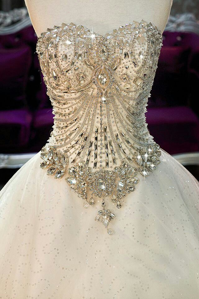 Jeweled Corset Wedding Dress (just the top, not the bottom)