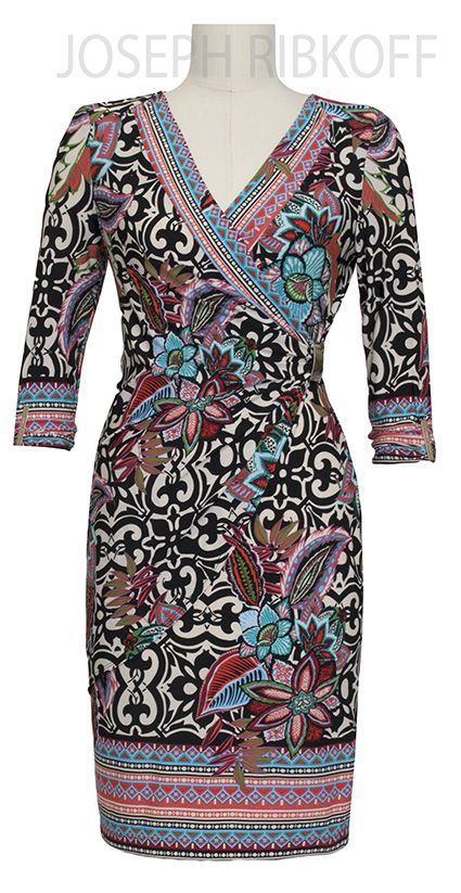 Joseph Ribkoff Wrap Dress | 2016 Collection.#maatje meer # tot maat 48 !http://www.nr4.be/