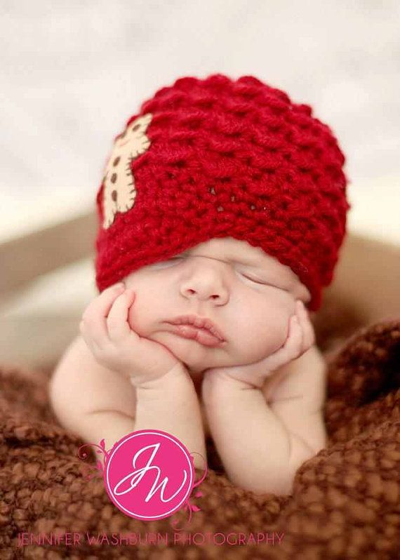 Crochet Hat Pattern For 8 Month Old : Knit Crochet Baby Boy Beanie Newsboy Hat Christmas Red ...