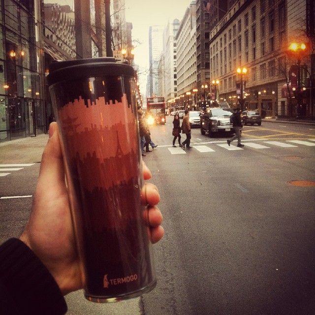 #Утро в #Чикаго #вдохновляет! #кофейныеПутешествия с #TermoGo только начинаются! Присоединяйтесь)   #TermoGo #coffeeTravel #кофе #кофемания #кофелюбовь #кофеарт #тепло #забота #термокружка #термочашка #радость #любовь #дружба #Kiev #Ukraine