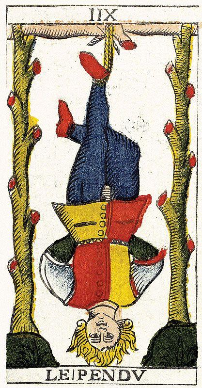 Tarot de Marseille Heritage - Pierre Madenié, Dijon 1709 - Le Pendu