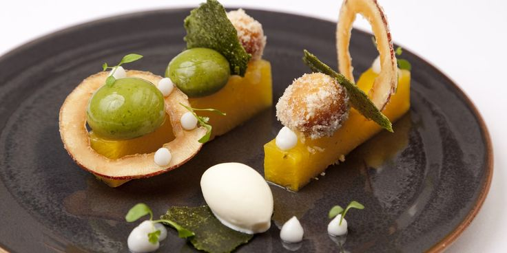 Phil Fanning's dazzling dessert is a molecular masterpiece, encapsulating all of the vibrant flavours of Thai green curry in a pineapple dessert