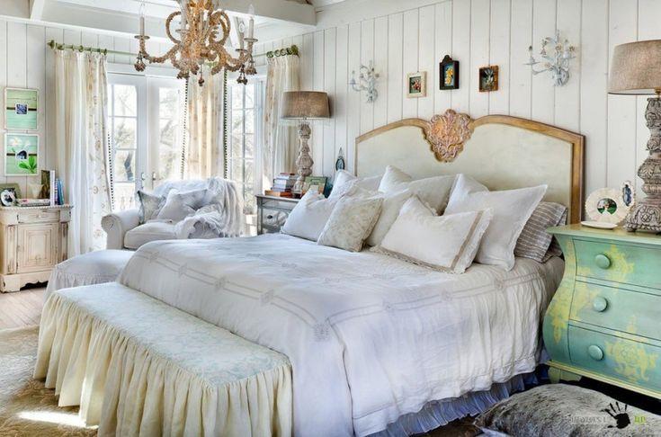 Спальня в стиле Шебби шик: 50 эксклюзивных идей на фото