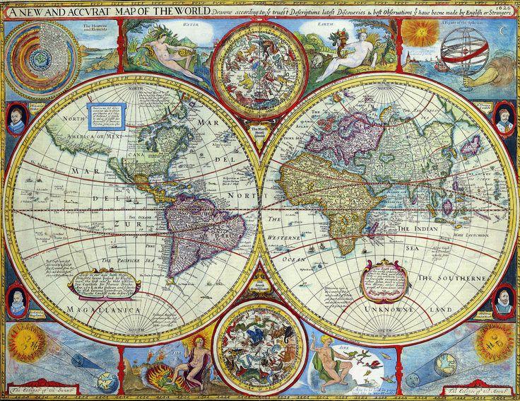 17 best old maps images on pinterest antique maps old maps and antique maps of the world map of the world john speed c 1646 gumiabroncs Choice Image