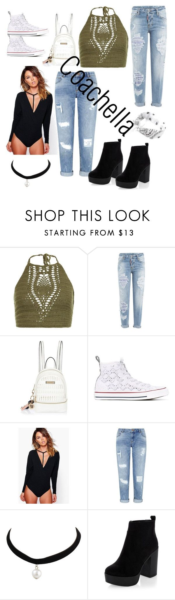 """""""Coachella weekend 1 ootd ideas"""" by itsbrianasanders on Polyvore featuring New Look, Dsquared2, River Island, Converse, Boohoo and Miss Selfridge"""