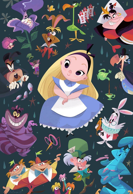 Wallpaper iphone alice wonderland - Alice In Wonderland Art By Bill Robinson