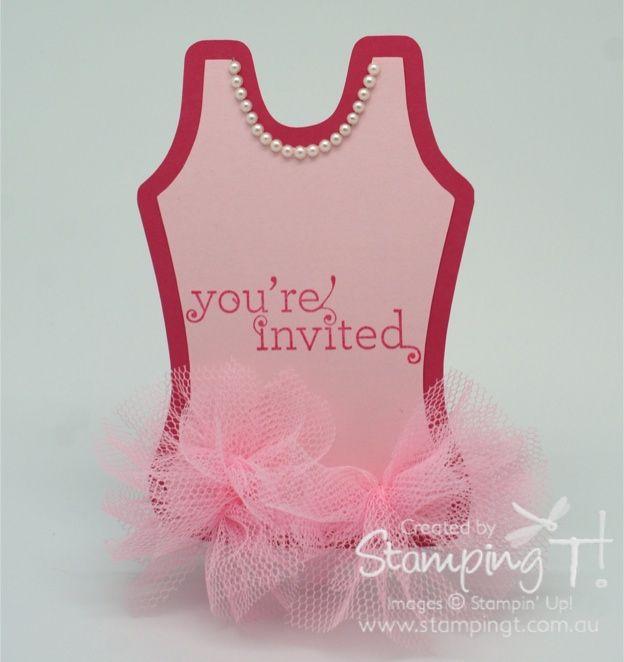 My version of the Ballerina Tutu Invitation | Stamping T ...
