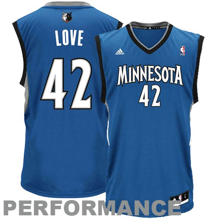 Kevin Love Minnesota Timberwolves adidas Replica Road Jersey - Slate Blue - $39.89