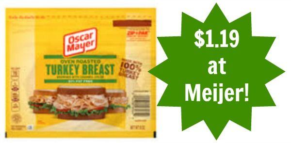 Meijer: Oscar Mayer Lunch Meat as low as $1.19!