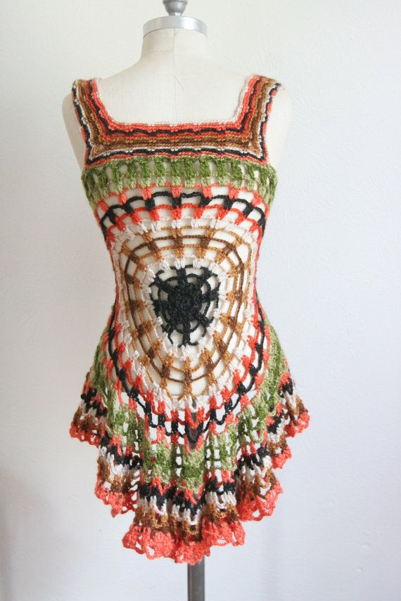 Vintage 1970s Bohemian Crochet Top  Helen Harper by dingaling, $36.00