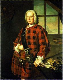 John Campbell of the Bank, 1749. The present official Clan Campbell tartans are predominantly blue, green and black.[19]
