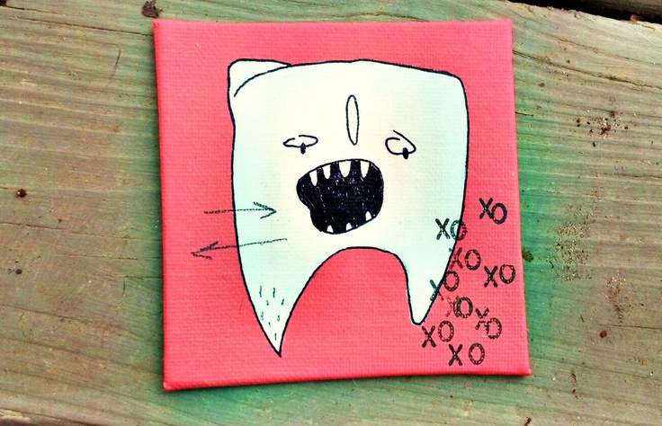 Pink wisdom tooth by yourhandwriting on Etsy