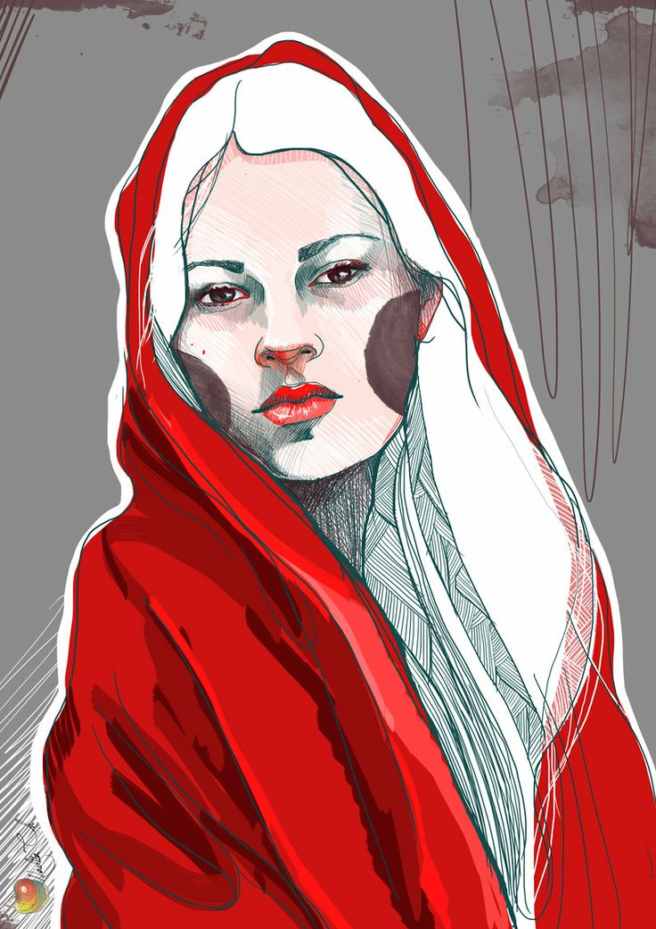 Red Riding Hood by *Nadia*  - http://yourporcelaindoll.deviantart.com/art/Red-Riding-Hood-261286267Artists Mindfulness, Deviantart, Beautiful Portraits, Fashion Illustration, Yourporcelaindol Illustration, Artists Yourporcelaindol, Illustration Darling, Red Riding Hoods, Cheek Portraits