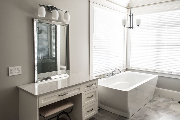 all white everything makes this vanity feel as luxurious as it looks