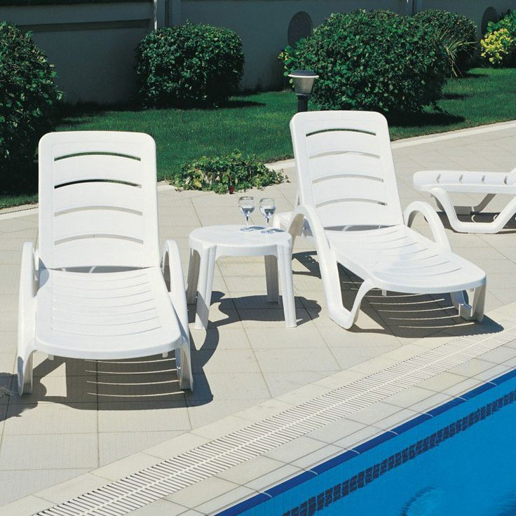 Outdoor Compamia Sunrise Pool Chaise Lounge - Set of 4 Lounge Green - ISP078-GRE