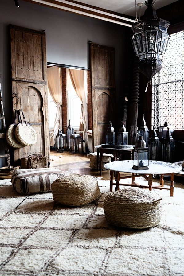 A neutral Moroccan-inspired apartment