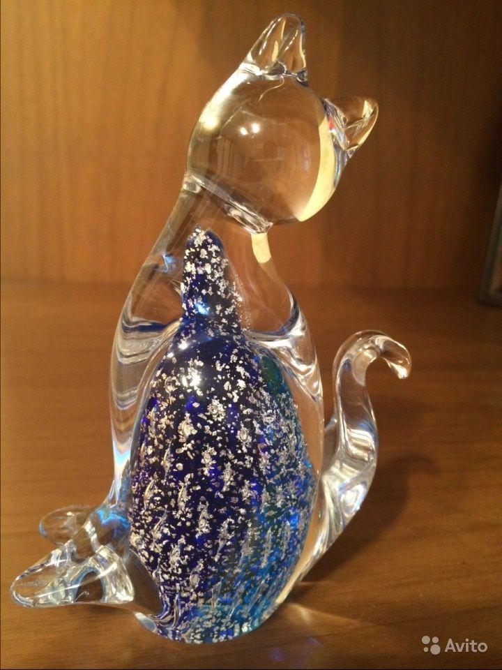 Статуэтка Кошка, муранское (венецианское) стекло), выс. 13 см  2 500 руб.