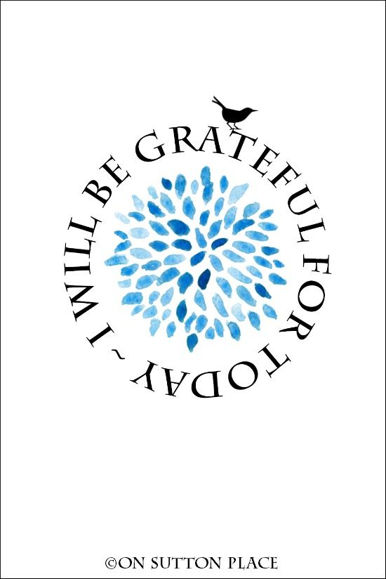 I Will Be Grateful For Today | Free Printable Art | Use for wall decor, screensavers, cards, crafts and more! This link goes to lots and lots of free, original printables!
