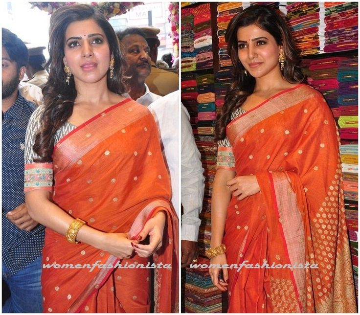 Samantha in Anuradha saree and Purvi Patel blouse