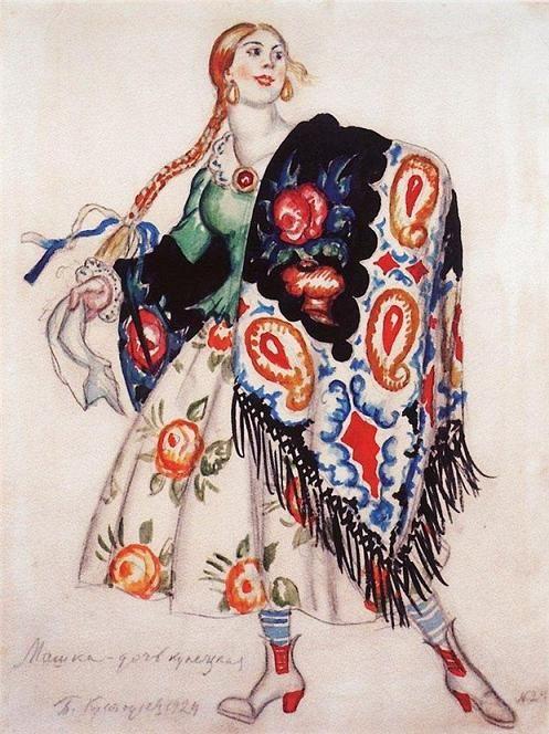 1924 МАША - ДОЧЬ КУПЕЧЕСКАЯ, Boris Kustodiev (1878~1927)