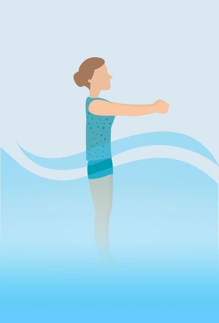 Hot tub Yoga - Clock Pose