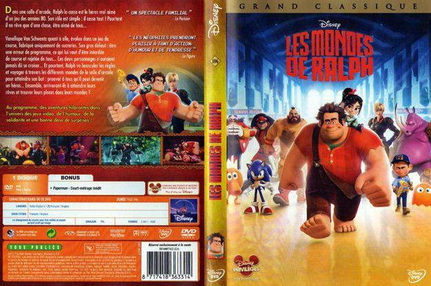 Jaquette DVD les mondes de ralph