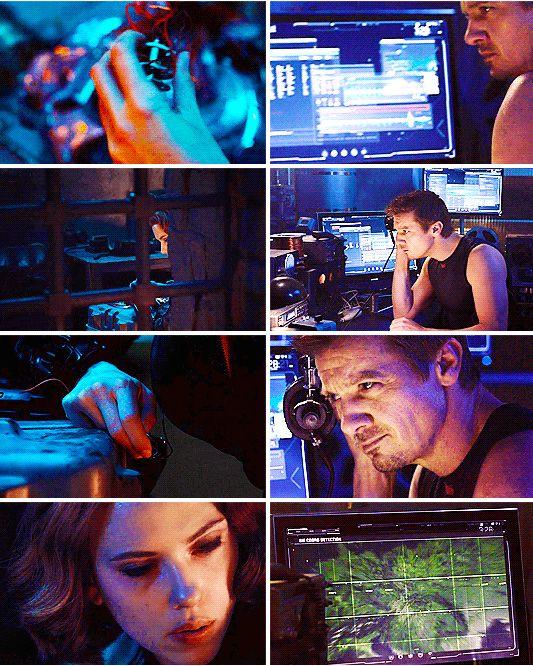 """I'll find her."" (Clint Barton and Natasha Romanoff, ""Avengers: Age of Ultron"")"