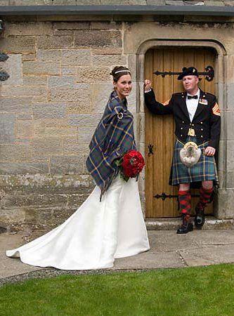 Wedding Couple in Tartan ~ Isle of Skye