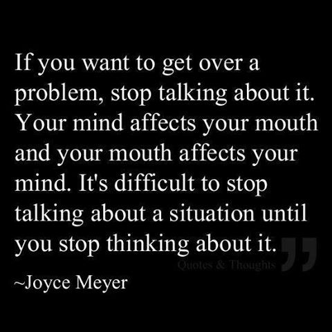 Stop talking until you make sense.