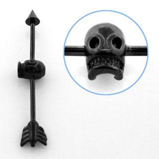 skull and arrow industrial bar.