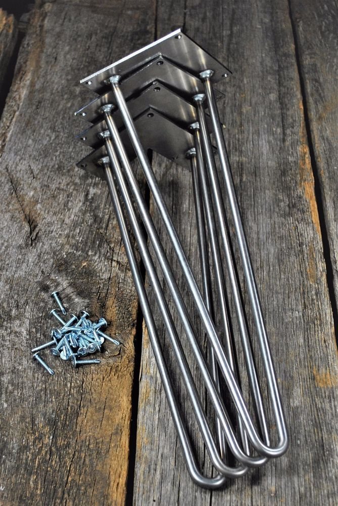 Hairpin Metal Table Legs - Sets Of 4 - Includes Screws and Floor Protectors | Home & Garden, Furniture, Furniture Parts & Accessories | eBay!