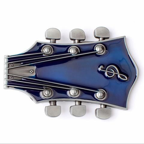 Retro Guitar Metal Belt Buckle