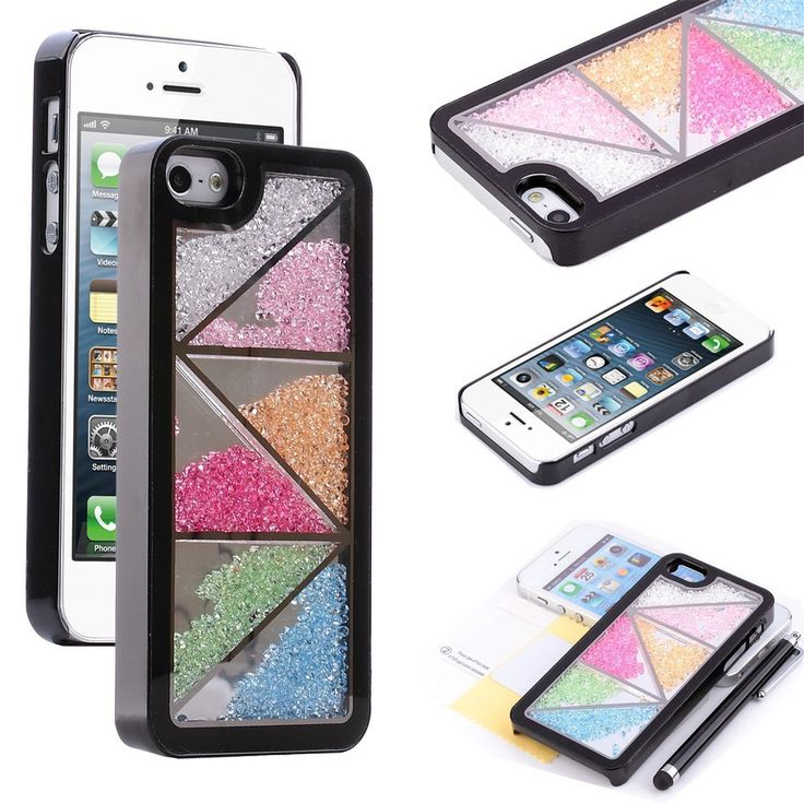 Amazon.com: Pandamimi ULAK(TM) Sweety Girls Colorful Eye Shadow Pattern Case Cover Skin Decorated Cute Shining Princess Style for iPhone 5 5G + Stylus + Screen Protector: Cell Phones & Accessories