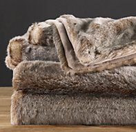 Luxe Faux Fur Blanket - Lynx  Winter's Coming