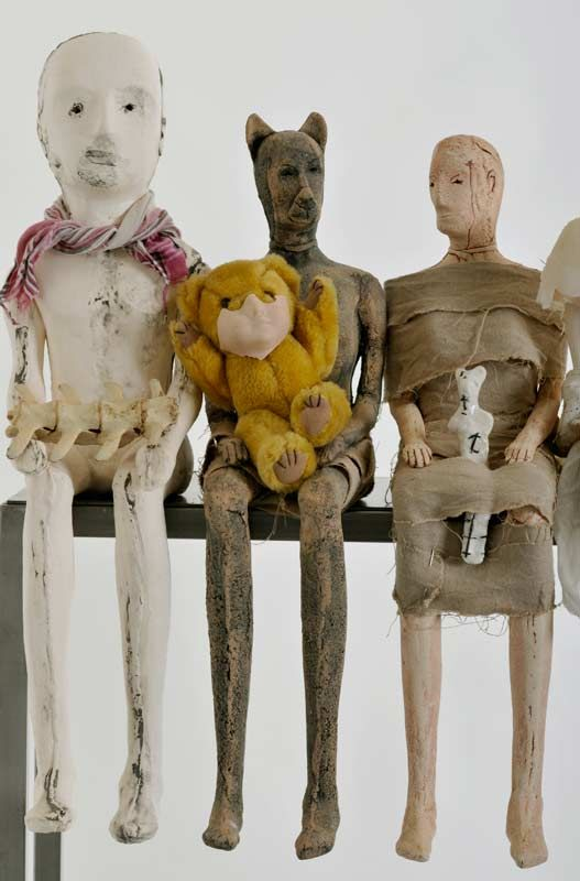 the uncanny playroom  by christie brown  ceramic and mixed media