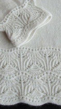 Схема для оформления края изделия спицами. Схема вязания каймы спицами.