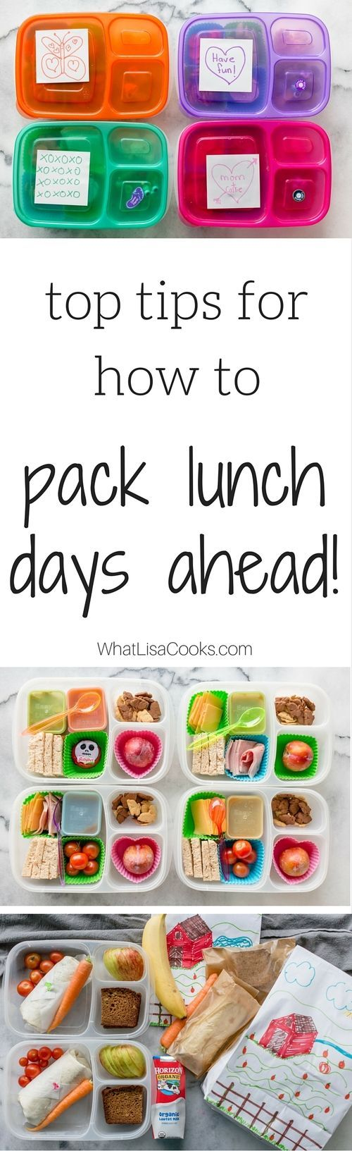 With these great tips and tricks, you can pack lunch days in advance and save yourself tons of time! from @What Lisa Cooks (Lisa Marsh)