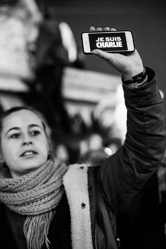 JE SUIS CHARLIE, NOUS SOMMES TOUS CHARLIE  11/01/2015 Marche Républicaine Paris / France  by Sandie Besso Photography for any booking, professional & artistic shootings contact me : sandie.besso@gmail.com Paris / France