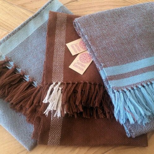 New medieval handwoven shawls in my shop: which one do you prefer?