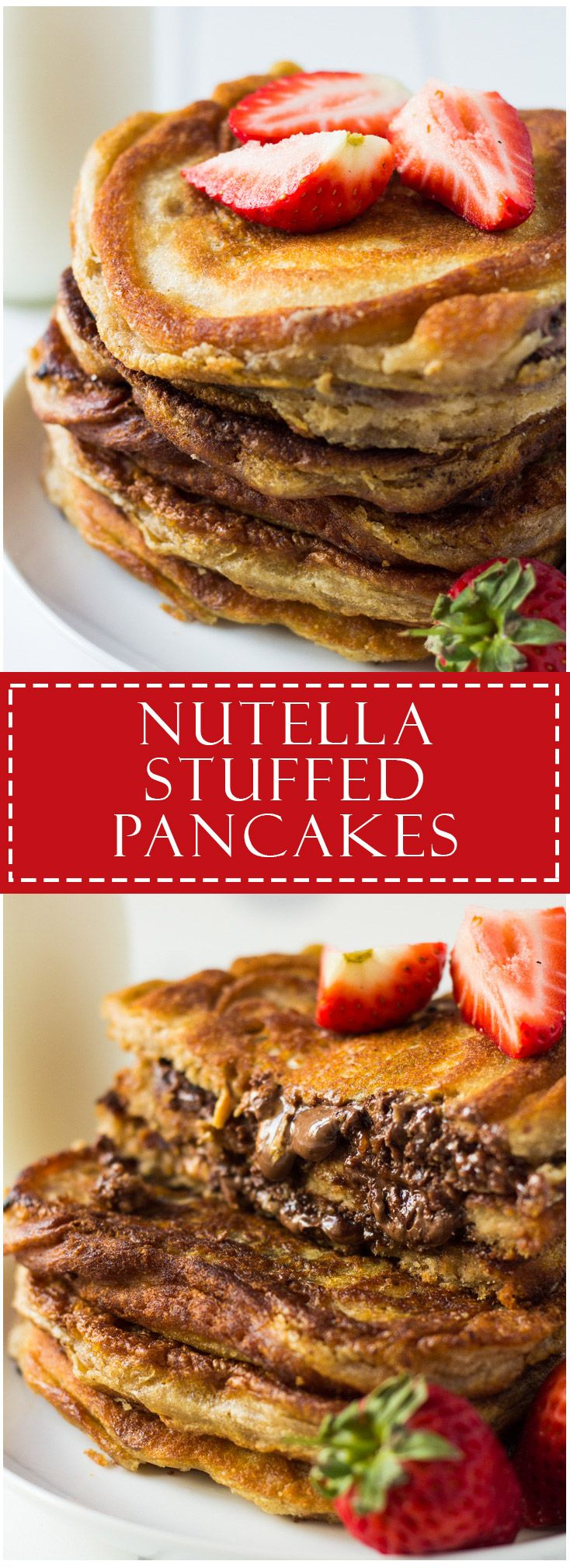 Nutella Stuffed Pancakes | Marsha's Baking Addiction