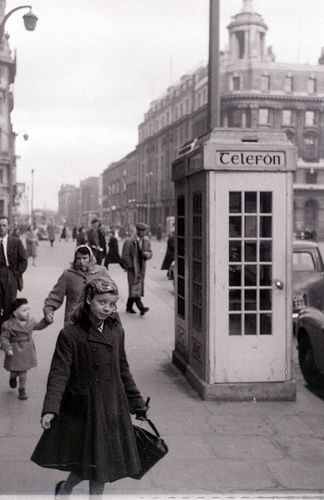 Middle Abbey Street, Dublin, Ireland. 1959