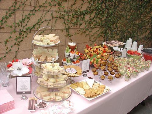 Fall Wedding Buffet Table Setting