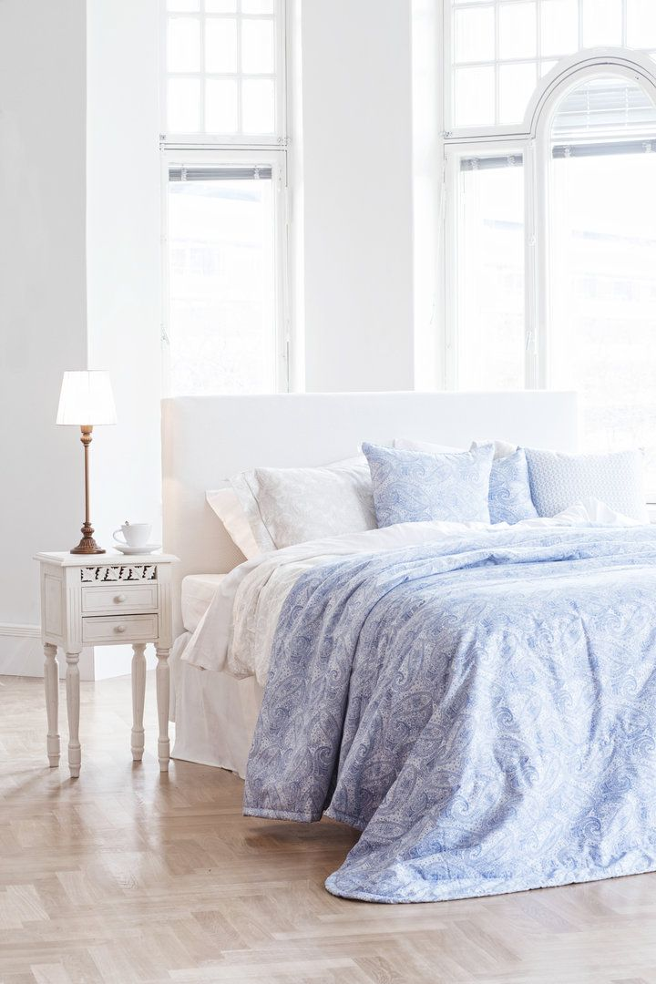 PETRA sininen #lennol #spring #paisley #bedspread #inspiration #bedroom
