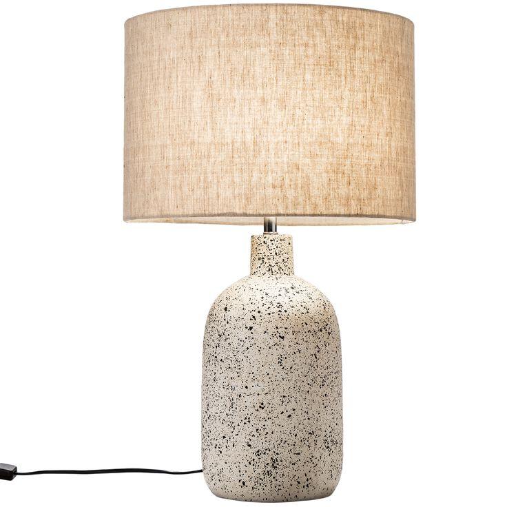 57cm White Maya Ceramic Table Lamp In 2021 Ceramic Table Lamps Ceramic Table White Lamp Shade