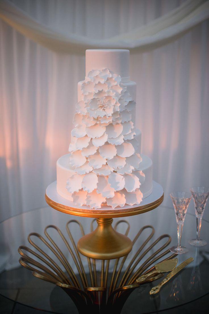 Gorgeous 4 Tier Wedding Cake by Jessica Grossman of PPHG // Charleston, SC