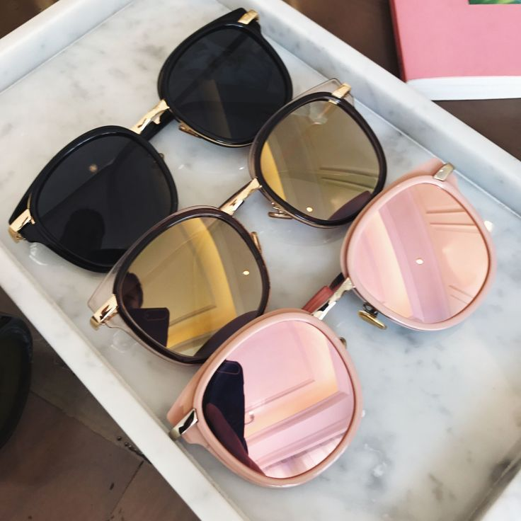 Cute sunglasses for the summer! Color;Black,Gold,P…
