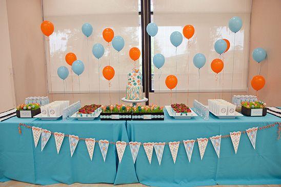 Orange & Blue Tigger Party