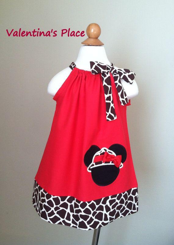 Adorable Vestido de Minnie Mouse Safari funda por Valentinasplace