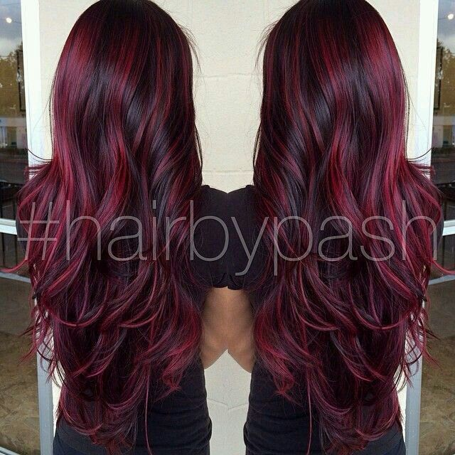 Love the maroon and black mix
